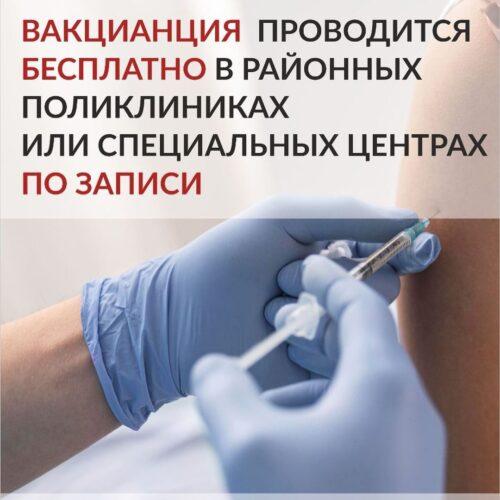 Вакцинация проводится бесплатно